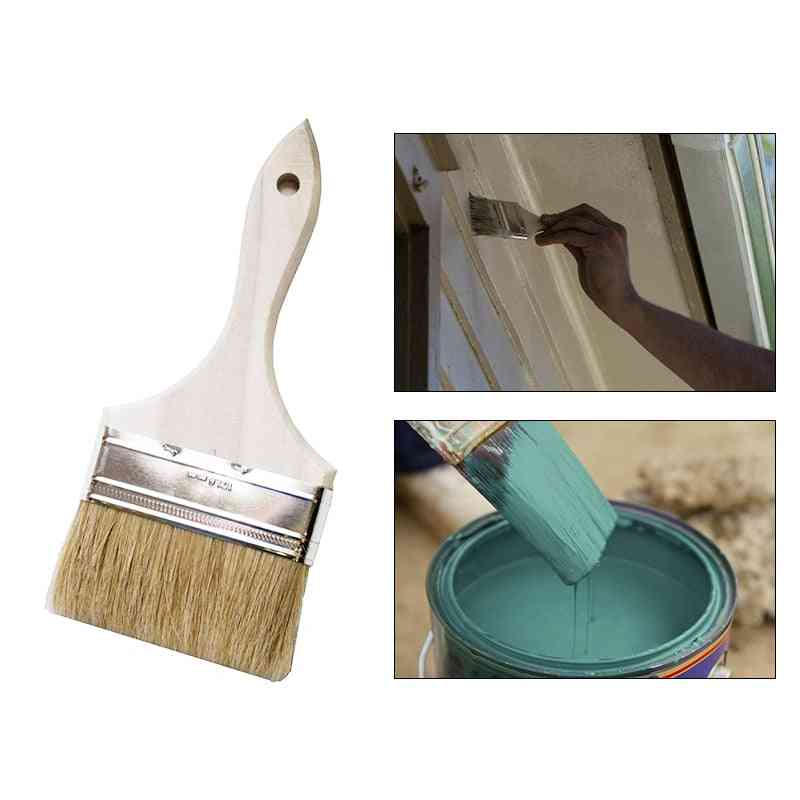 1pcs High-quality Wooden Handle Paint Brush Pig Hair Paint Brushes Home Decor Tool