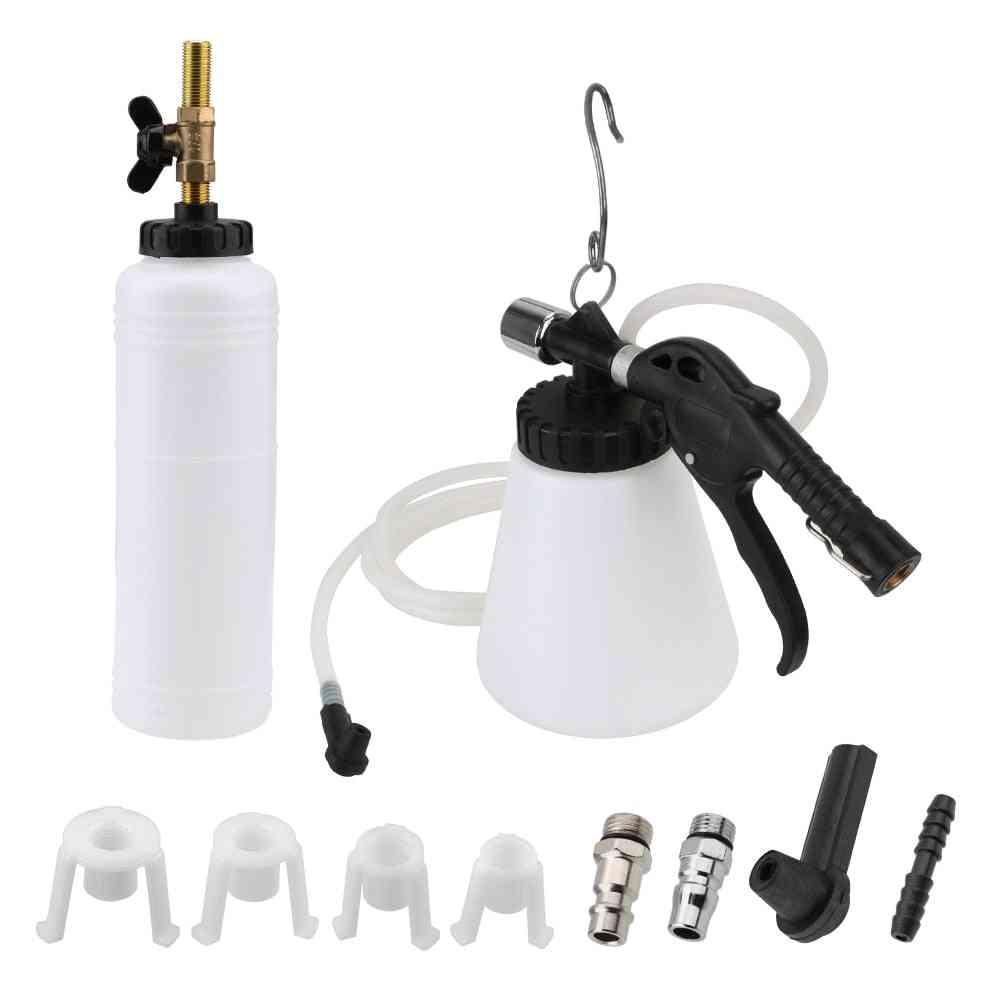 Brake Bleeder Fluid Pump Drain Kit Oil Change Tank And Tubes Repair Tools Auto Replacement (double Pot)