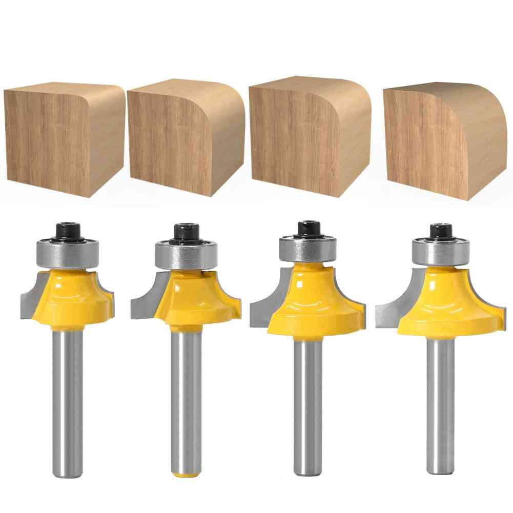 Shank Corner Round Over Router Bit With Bearing Milling Cutter Tungsten Carbide For Woodwork