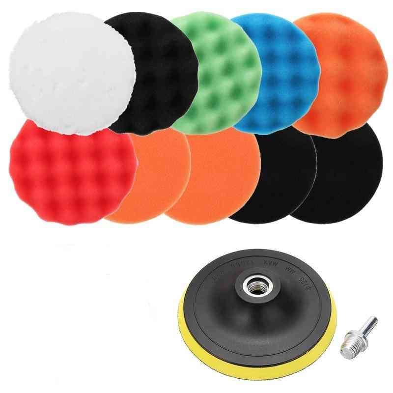 Sponge Car Polisher Waxing Pads Buffing Kit For Polish Buffer Drill Wheel, Removes Scratches