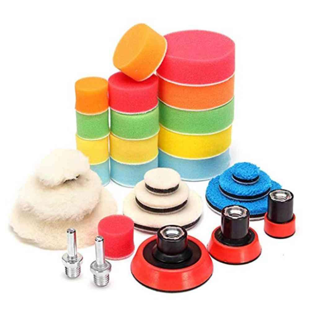 Car Foam Drill Polishing Pad Kit ,buffing Pads/ Sponge Power Tool Polisher (as Shown)