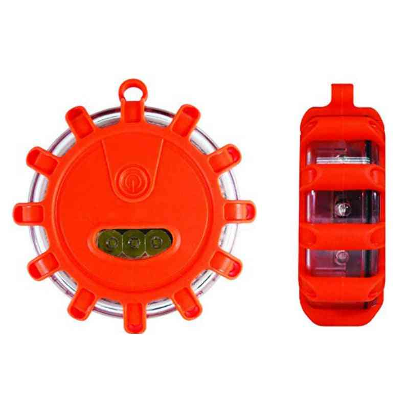 Strong Magnetic Warning Light, Emergency Disc Led Road Flares For Flashing Sos Lamp
