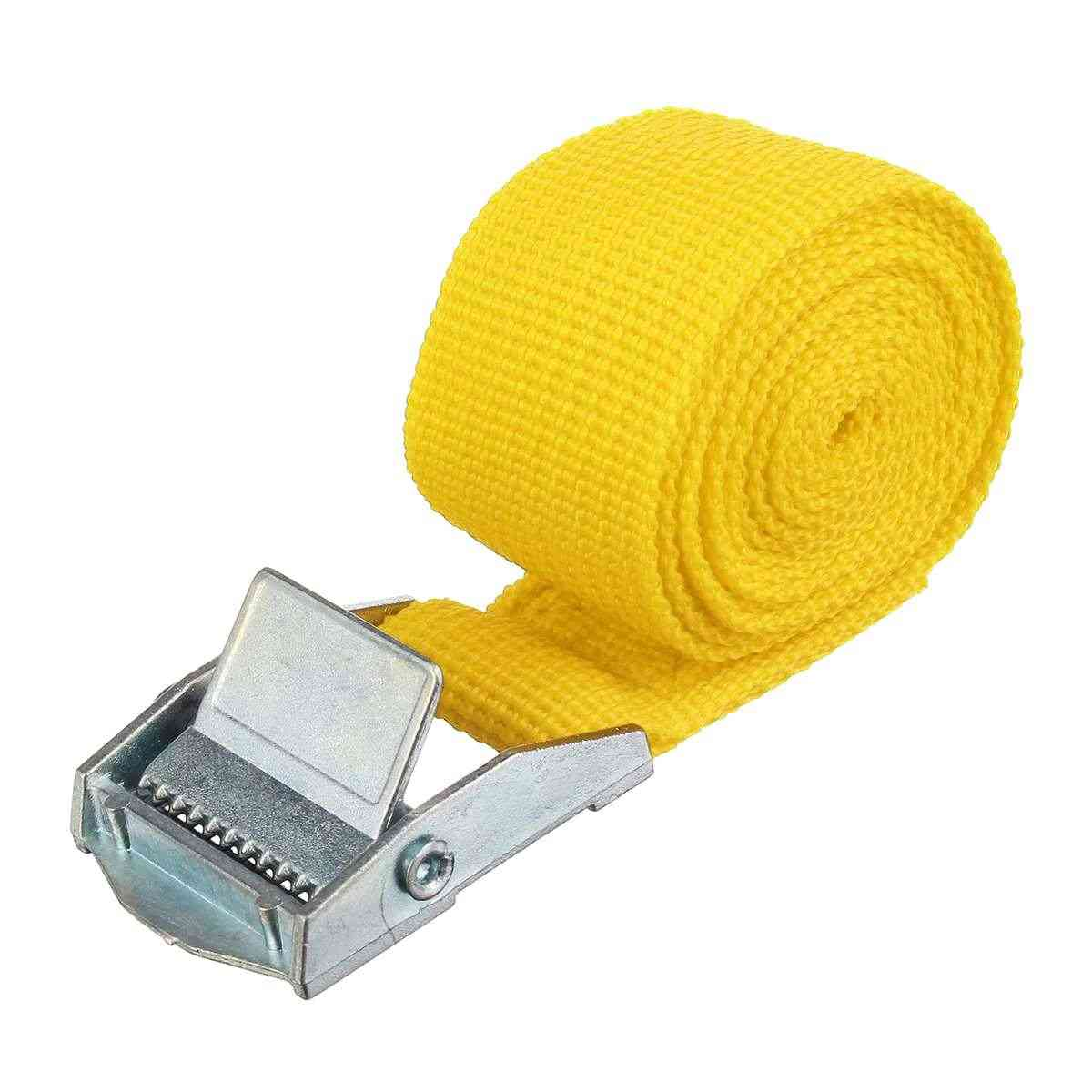 Car Tension Rope Tie Down Strap Strong Ratchet Belt For Car Luggage Bag