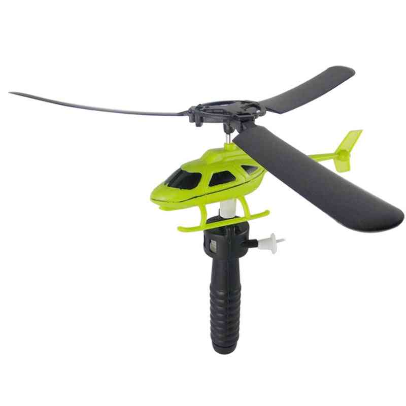 Drawstring Pull Wires Helicopters Fly Toy