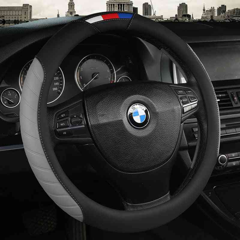 Car Steering Wheel Covers Anti-slip Leather Sport Auto Steering-wheel Cover