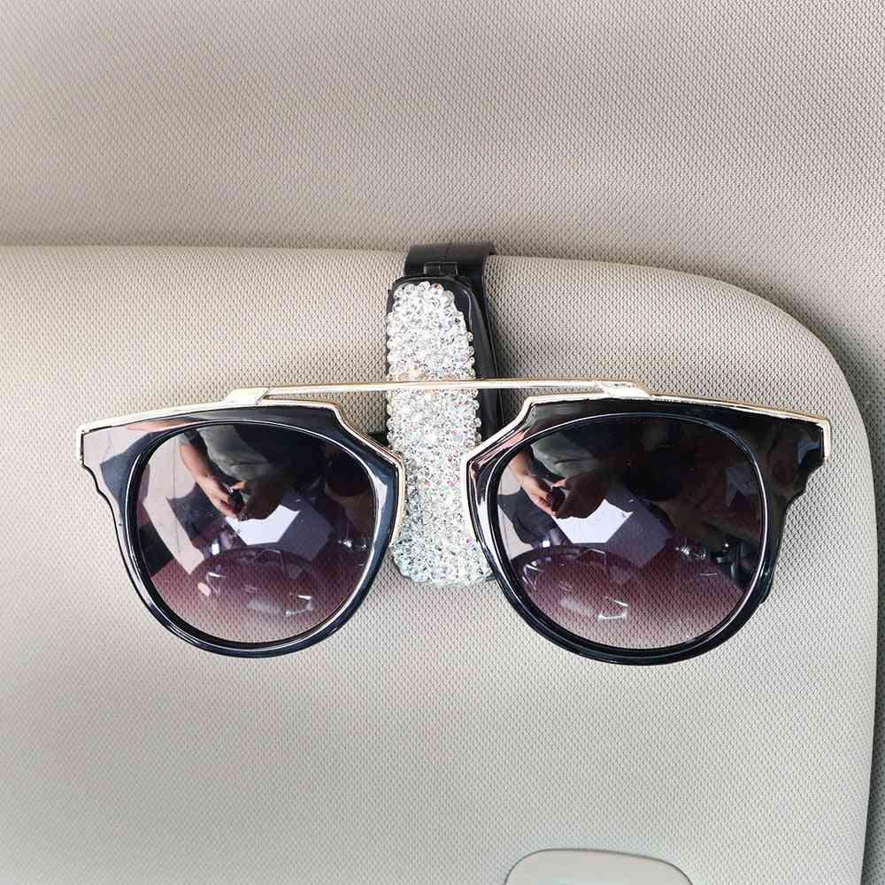Sun Visor Glasses Cases Sunglasses Eyeglasses Holder