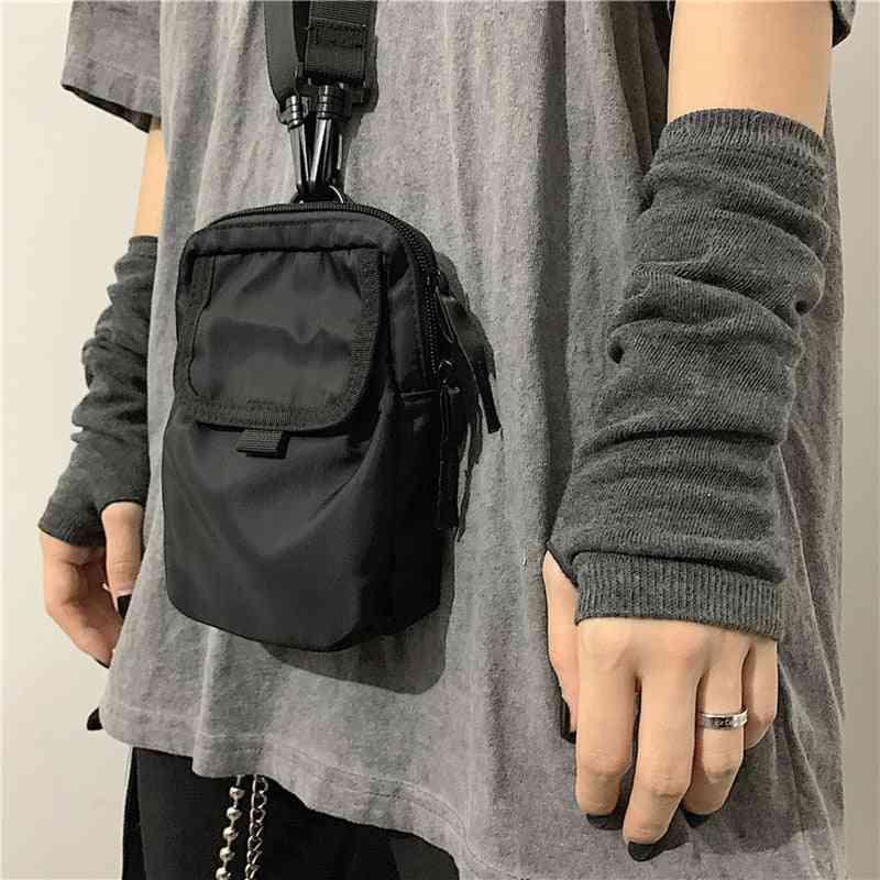 Black Punk Unisex Long Fingerless Gloves, Cuff Ninja Sport, Outdoor, Elbow Length, Mittens Cool Stretch, Winter Arm Warmer