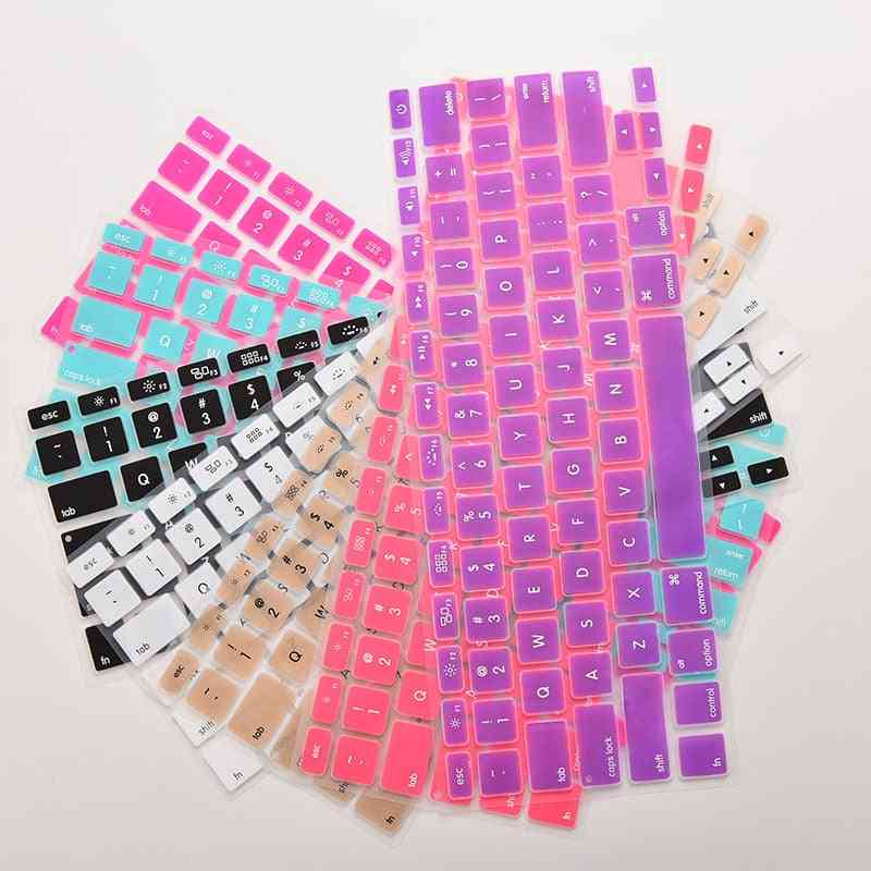 7-candy Colors, Silicone Keyboard, Cover Sticker For Macbook Air, 13-pro Protector