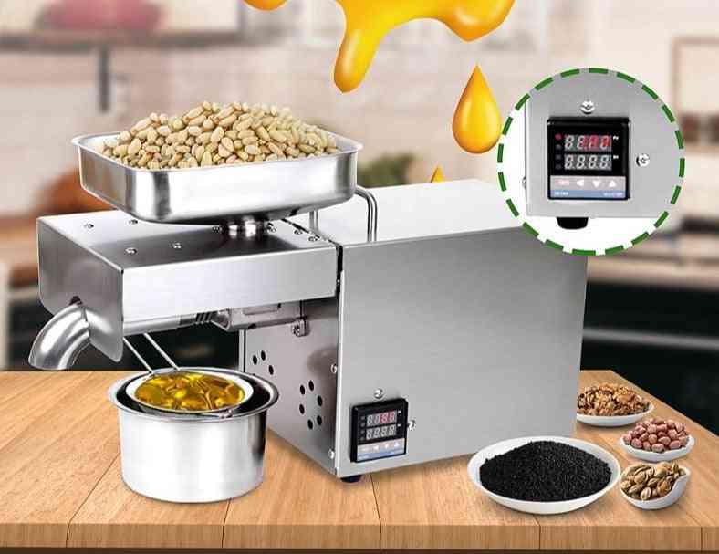 220v/110v Oil Press Machine Stainless Steel For Peanutss Extractor