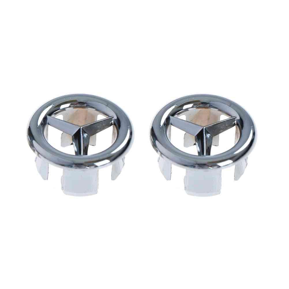 Sink Hole, Round Overflow Cover, Ceramic Pots Basin, Kitchen Accessories (a 2pcs)