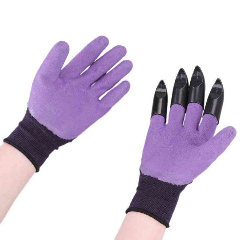 Garden Rubber Gloves With Claws For Dig, Plant, Rose Planting Pruning, Digging Gardening Tool