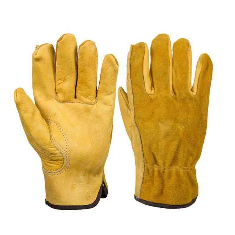 Thorn Proof, Leather Work, Waterproof Slim-fit, Heavy Duty Gardening Gloves