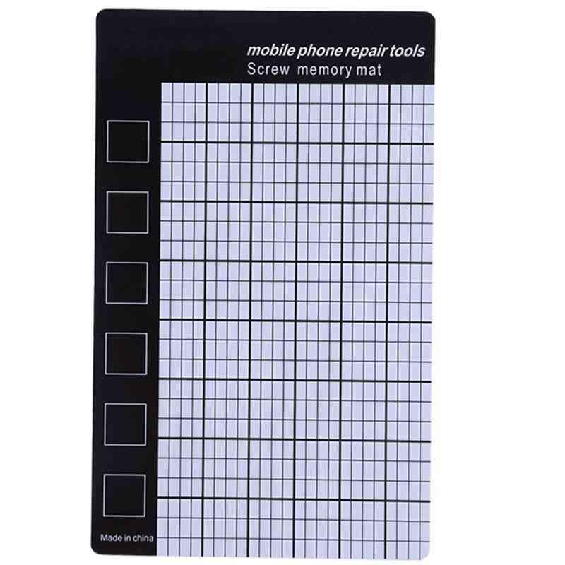 Magnetic Screw Mat, Phone Tablet Repair Tools, Storage Memory Chart Working Pad