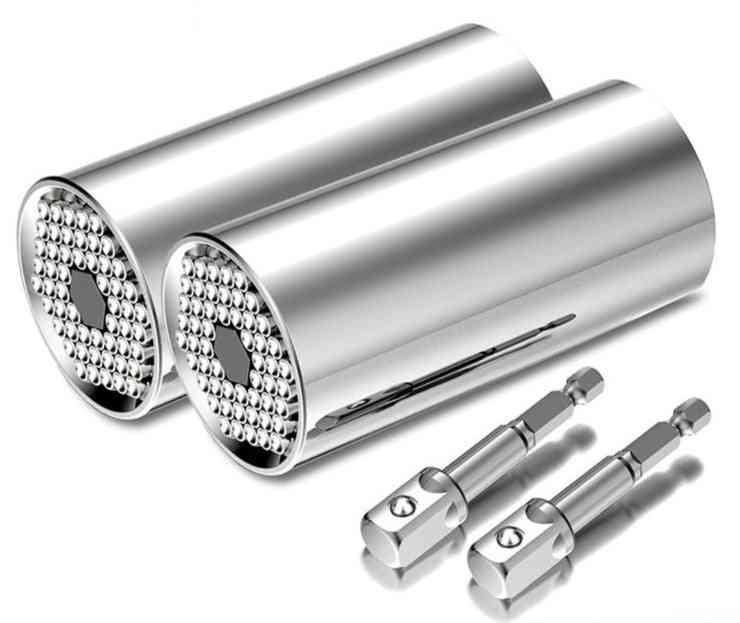 Universal Torque Wrench Head Set, Socket Sleeve Power Drill Ratchet Bushing Spanner