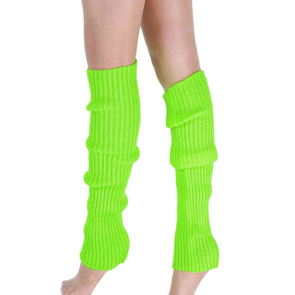 Boot Cuffs Warmer Knit Leg Stockings Knitted Over, The Knee Socks Cotton