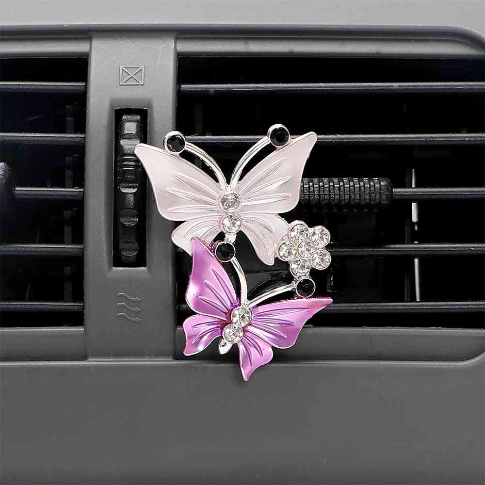 Air Freshener Butterfly Car-styling Car Perfume Natural Air Conditioner Outlet Clipories