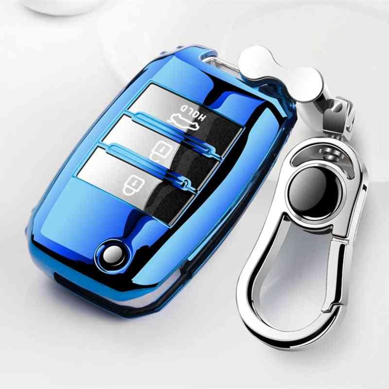 New Soft Tpu Car Key Case Shell For Kia Rio Ql Sportage Ceed Cerato Sorento