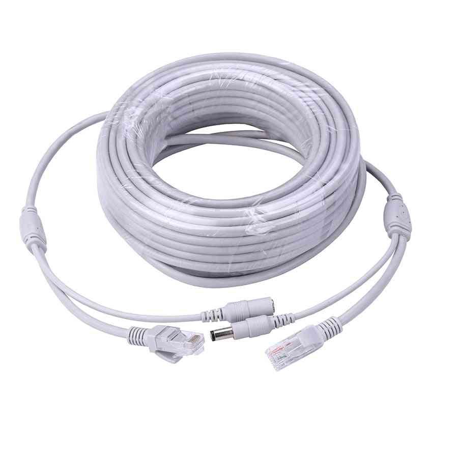Jack Rj45 & Dc Power, Extension Ethernet, Cctv Cable