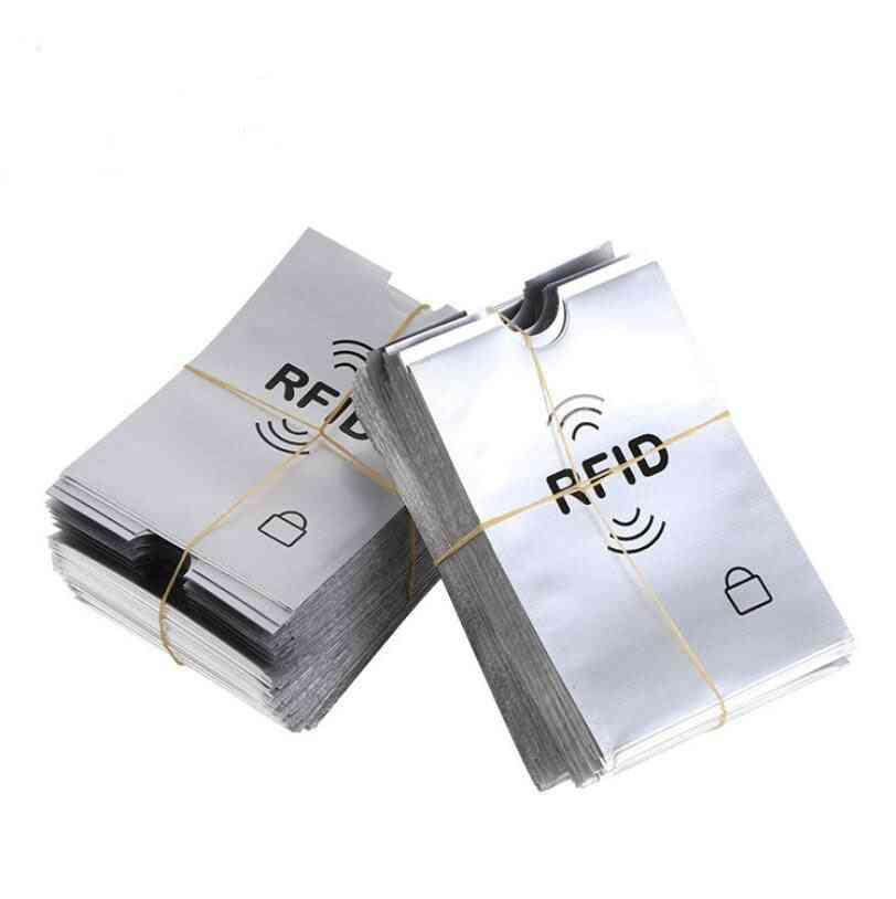 Aluminum Foil, Portable Anti-scan, Sleeve Credit, Rfid Protector, Card Holder