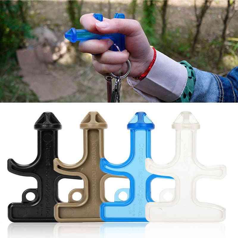 Mini Nylon, Plastic Steel Drill Survival, Self Defense, Stinger Weapons, Keychain Tool