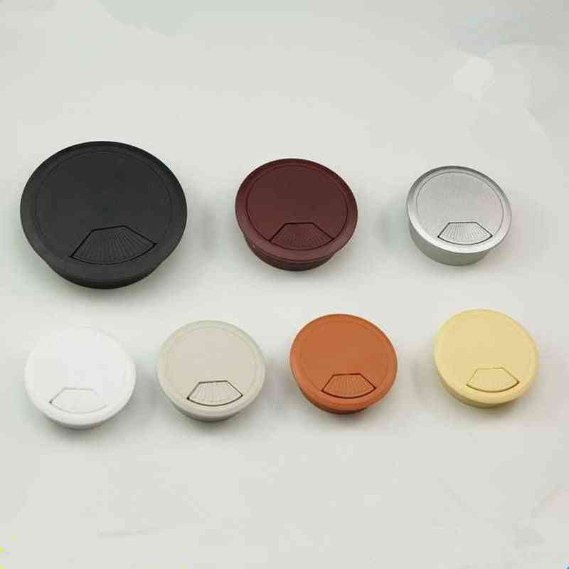 High Quality Abs Computer Desk Table Grommet Cable Port Wire Hole Cover (flashing Silver 80mm)