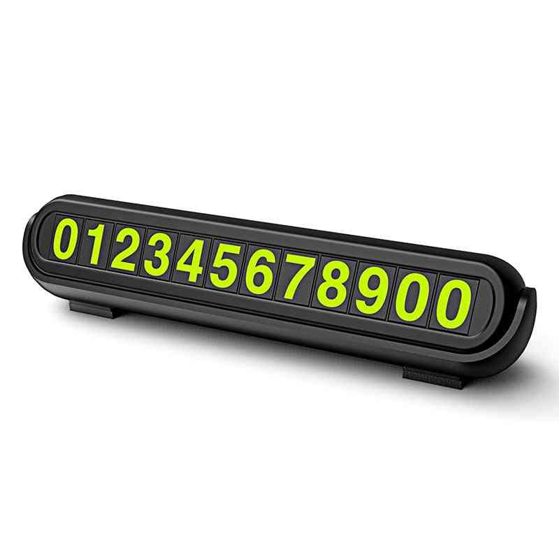 Night Light Car Styling Phone Number Card Hidden Number Plate