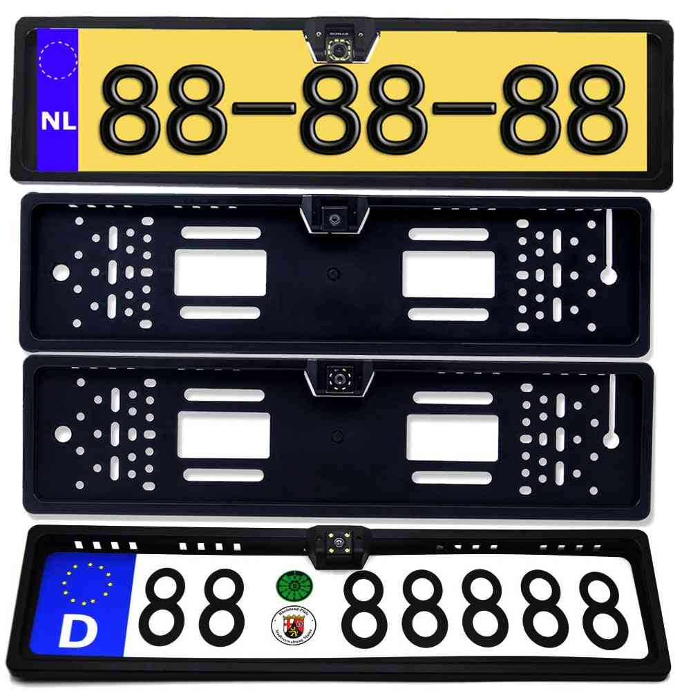 Car Rear View Camera License Plate Frame Waterproof Night Vision Light