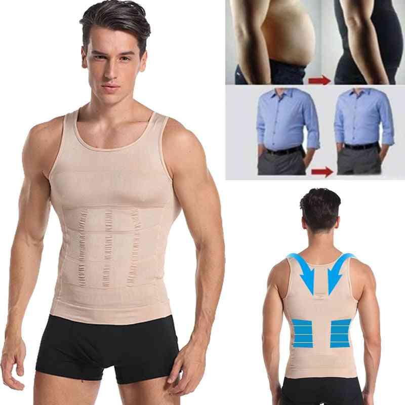 Men's Slimming Vest Body Shaper For Posture Gynecomastia Compression Shirt Underwear