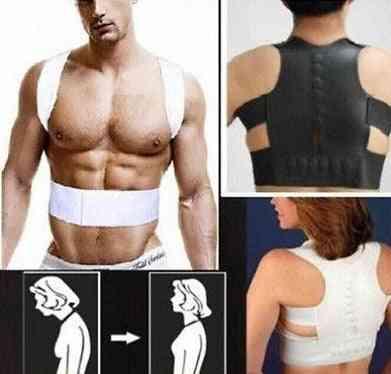 Magnetic Therapy Posture Corrector Body Shaper, Back Pain Belt Brace Shoulder Support
