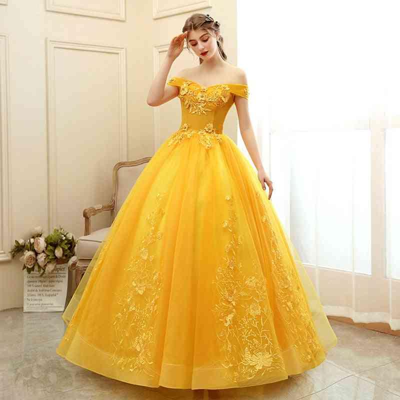 Sweet Floral Print, Prom Dress's