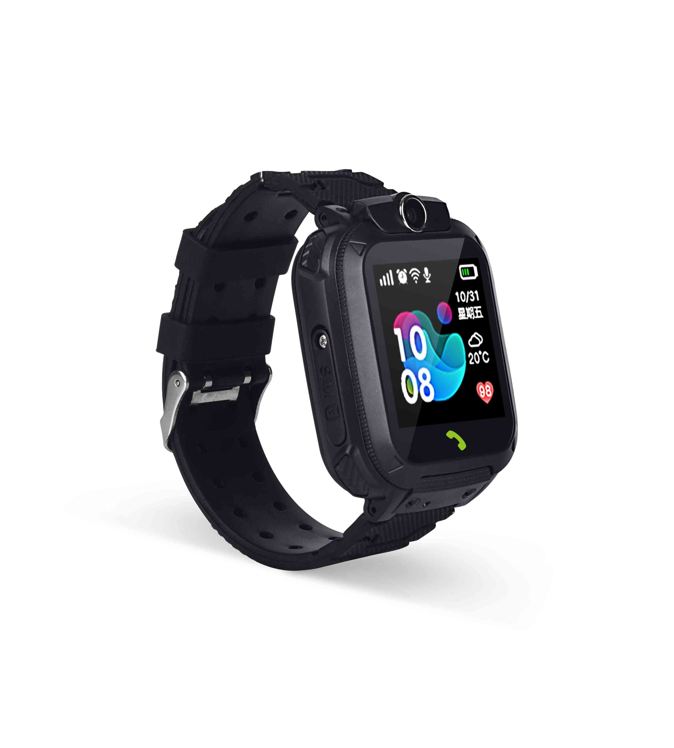 Kids Smart Watch Kids Sos Phone With Sim Card Photo Waterproof (black With Box Portuguese Version)