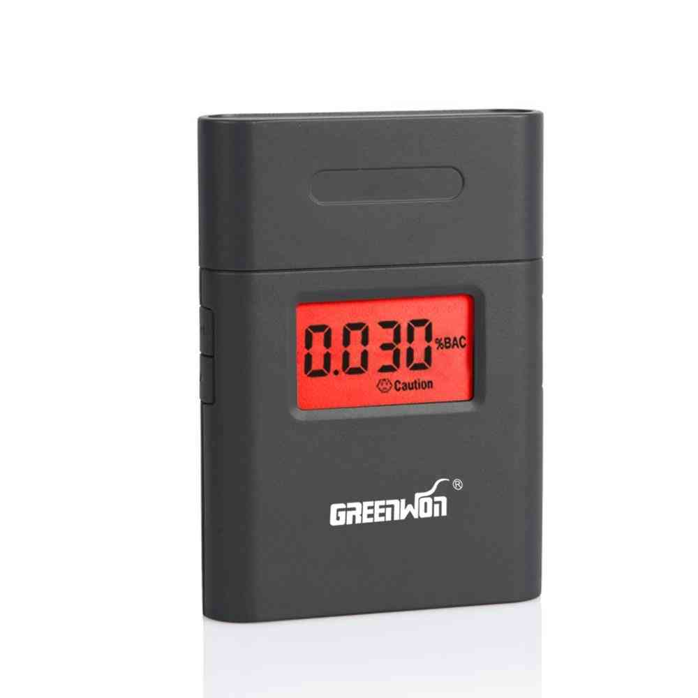 Portable 360 Degree Rotating Mouthpiece Red Backlight Accurate Breath Alcohol Tester  (black)