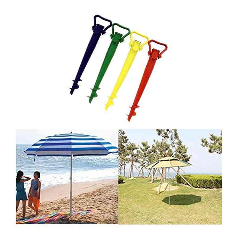 Umbrella Base Screw In Parasol Base Ground Anchor & Spike Stand / Hang Hammock Garden Umbrella Holder