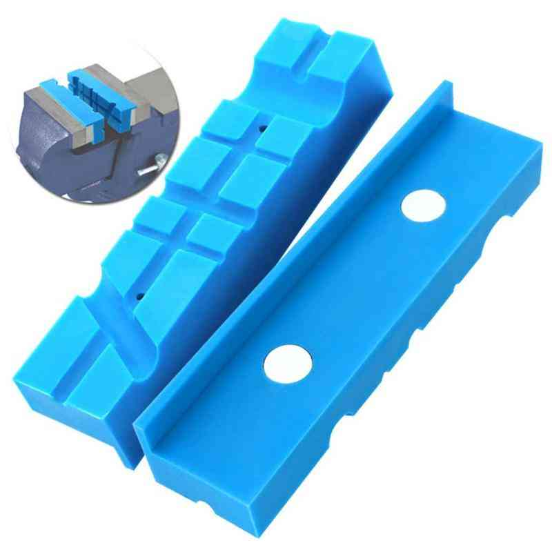 Magnetic Vice Jaw Pad, Multi-groove, Mill Cutter Vise Holder Grips, Bench Accessories Protector