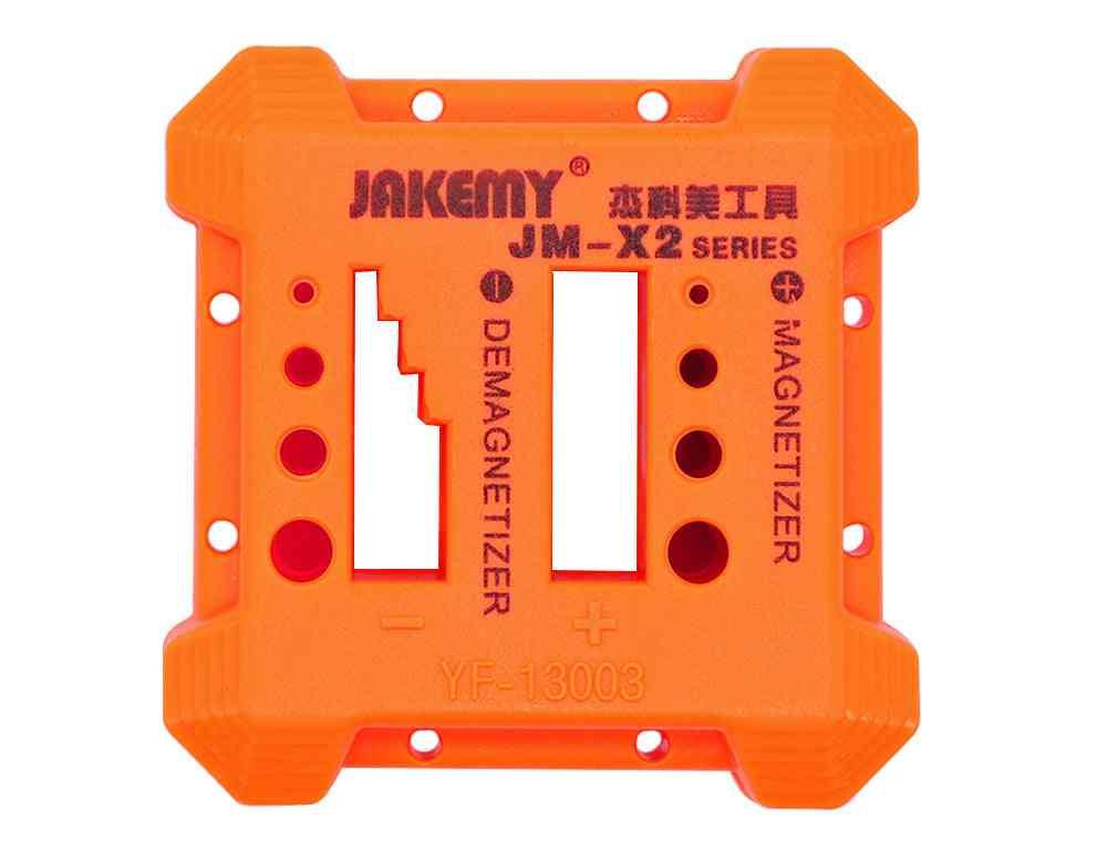 Orange Magnetizer Demagnetizer Tool Screwdriver, Magnetic Pick Up Tools For Tweezers, Gauss, Degauss