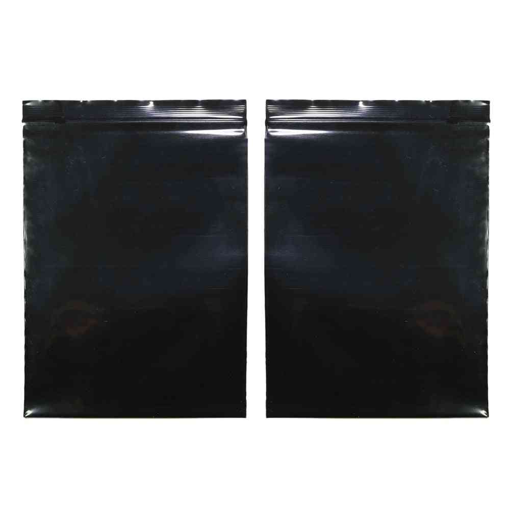 Multi Sizes Reclosable Poly Ziplock Package Pouches Black Heat Sealing