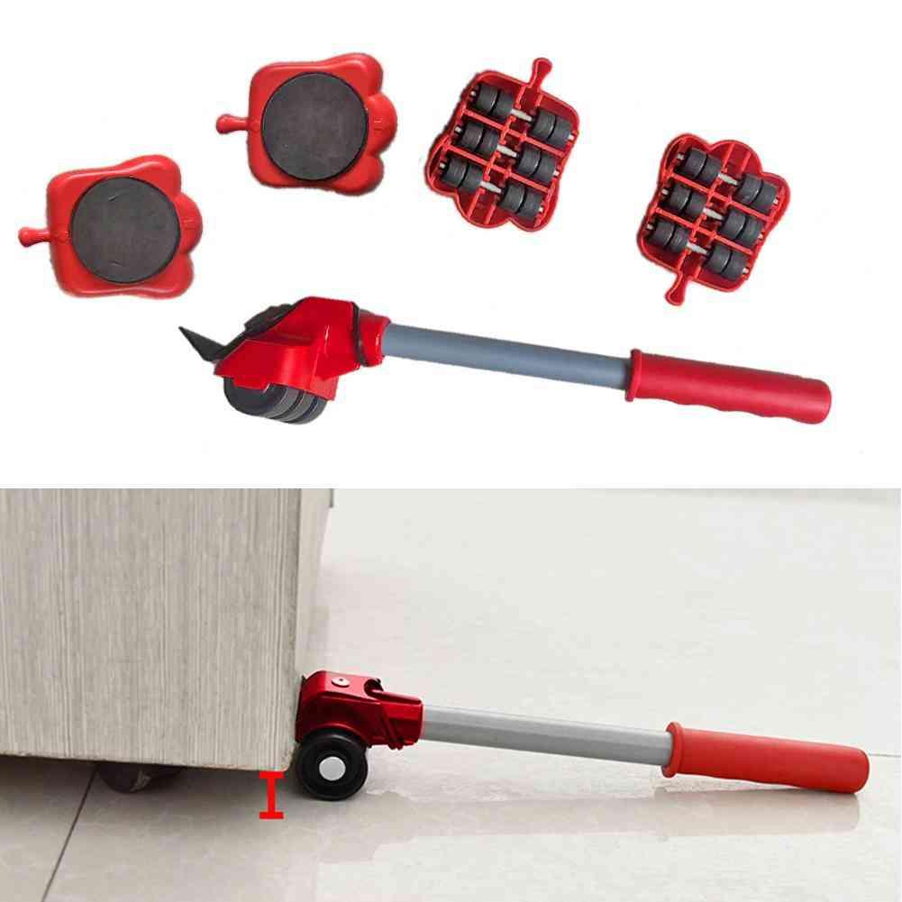 Furniture Transport, Lifter Removal, Heavy Stuffs, Wheel Roller Bar Tools