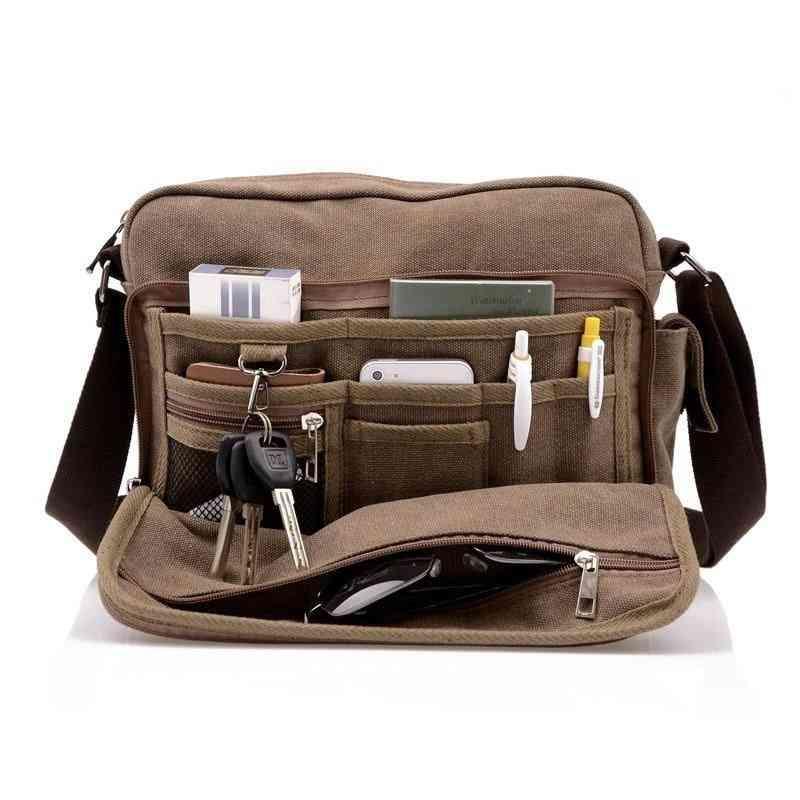 Canvas Multifunction Messenger, Shoulder Bag & Briefcases Card Pocket, Women