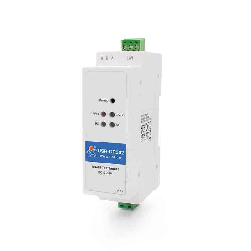 Din Rail Serial Rs485 To Ethernet Tcp Ip Server Module Ethernet Converter
