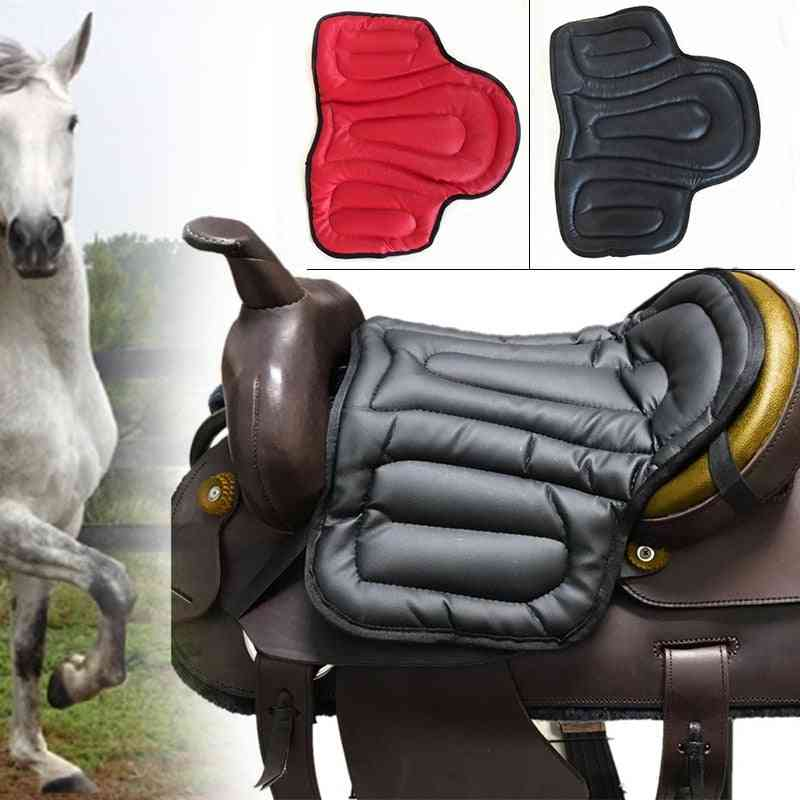 Non-slip Pu Leather, Seat Cushion Saddle Pad - Horse Riding Equipment