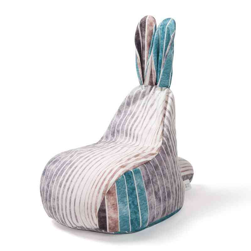 Cute Rabbit, Fabric Lazy, Single Bean Bag, Sofa Chair Cover
