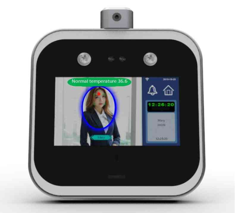 Touch Screen Wifi Temperature Measurement Face Recognition Terminal Employee Access Control