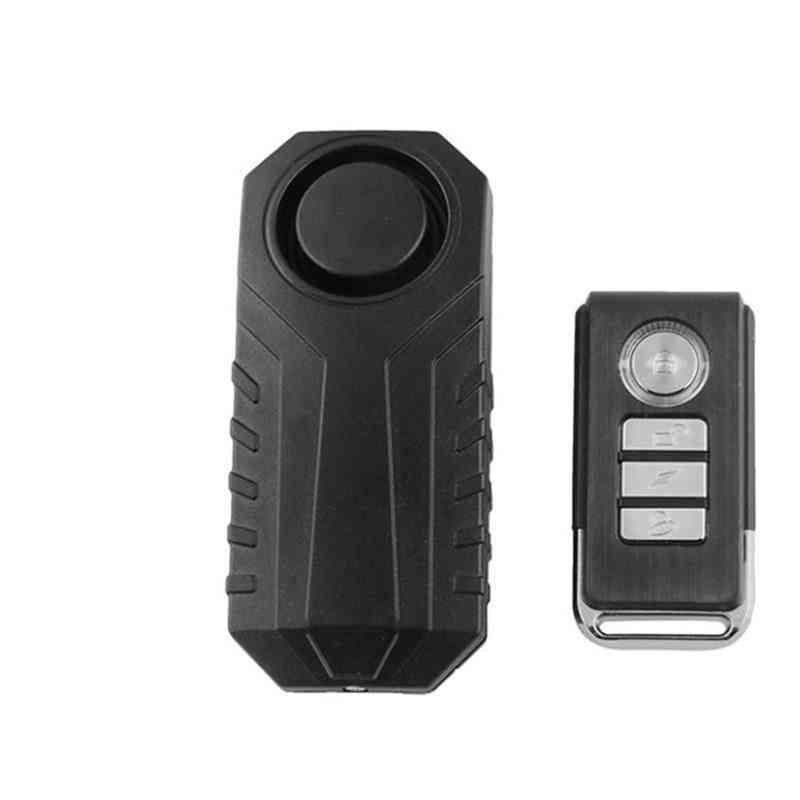 Motorcycle Bike Security Lock Wireless Anti-theft Vibration Bell Alarm