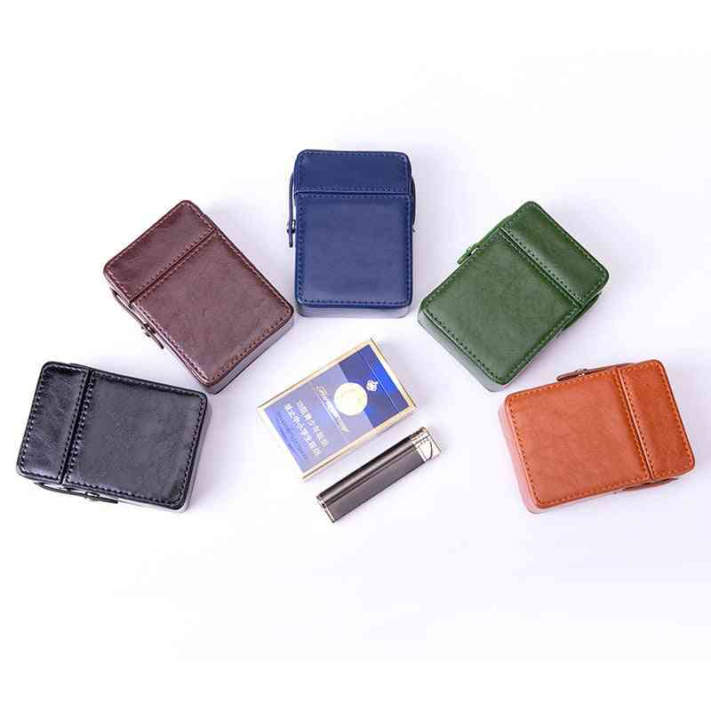 Portable Leather Cigarettes, Storage Pack