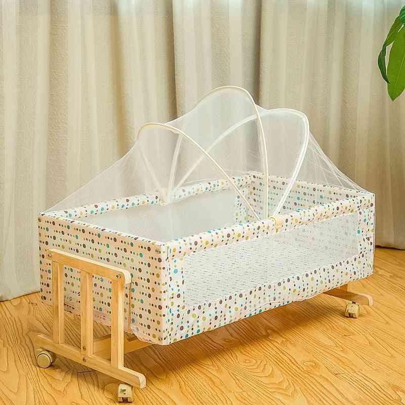 Solid Wood Baby Cradle Bed
