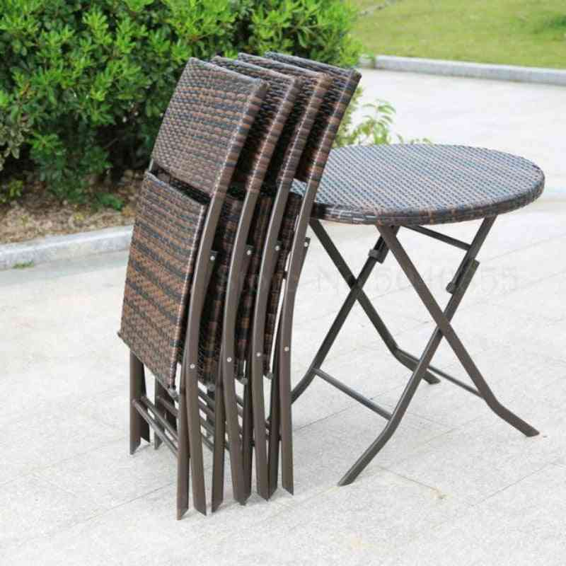 Outdoor Open Air Coffee Table And Chair