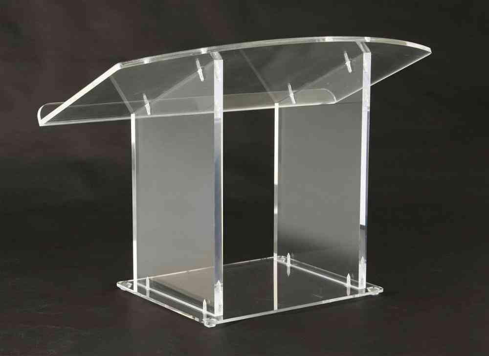 Tabletop Lectern Clear Plexiglas Podium Plexiglass