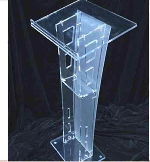 Clear Acrylic Lectern Decoration Plexiglass
