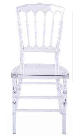 Transparent Napoleon, Crystal Chiavari, Clear Chair