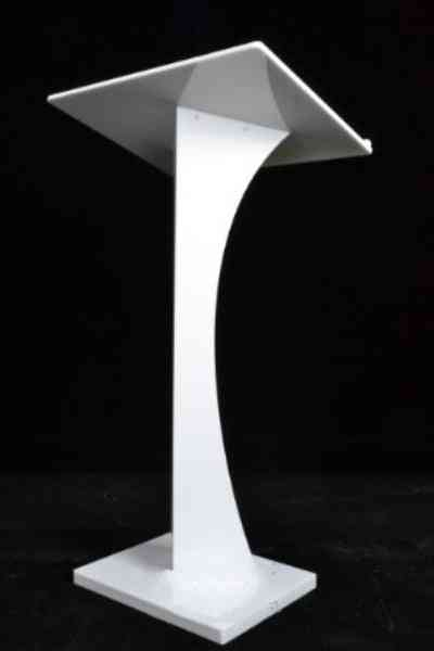 White Acrylic, Stand Up Lecture, Business Church, Podium Lectern